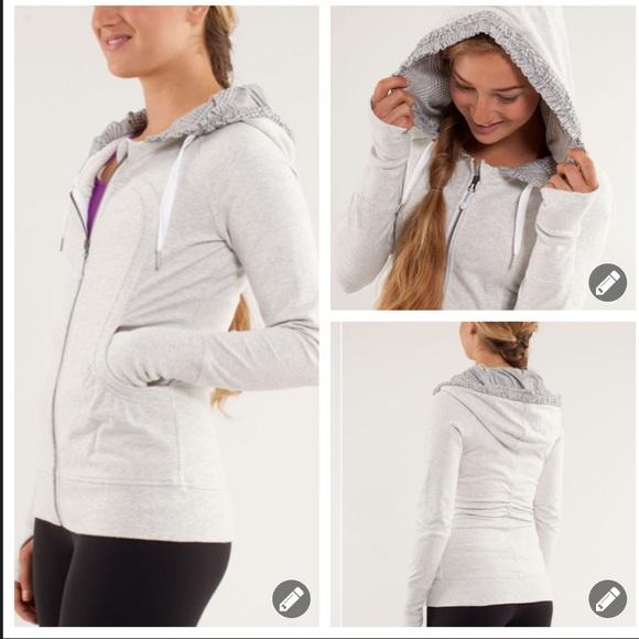 Lululemon back to class sweatshirt jacket 6018